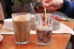 latte og sjokolade