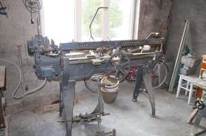 Dreibenk fra snekkerverkstedet på Lyngstad.