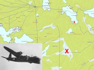 Ved Fauglemåsan i Høland slapp det britiske flyet sin last til hjemmestyrkene